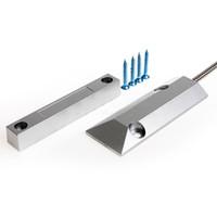 draht-fenster-sensor großhandel-Aluminium Wired Tür Fenster Sensor Magnetschalter Home Alarm SystemNC