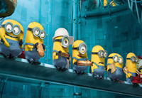Wholesale Minion Customs - 7x5FT Minions Stuat Lunch Factory Custom Photo Studio Background Backdrop Banner Digital Printing Vinyl 220cm x 150cm