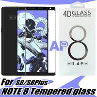 Wholesale Galaxy Screens - For Iphone X Samsung Note8 S8 Plus galaxy Note 8 Tempered Glass Full Screen color Protector 3D Curved S7 Edge Full Cover