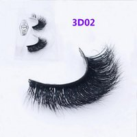 Wholesale Hair Extensions Feathers Real - 3D Mink lashes 100% Thick real mink HAIR false eyelashes natural for Beauty Makeup Extension fake Eyelashes false lashes D02