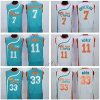 Wholesale Small Jesus - Jackie Moon Jersey Flint Tropics Semi Pro Movie 11# Ed Monix 7# Coffee Black Biggie Smalls Jesus Shuttlesworth 3# Like Mike Obama Jersey