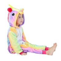 Wholesale Children Pink Onesies - Children Cosplay Costumes and Winter Flano Pajamas Star or Rainbow Unicorn Onesies Kigurumi Jumpsuit Hoodies Adults Halloween Party Clothes