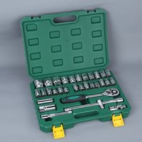 Wholesale Hardware For Boxes - Auto Car repair tool sets Combination 32pcs for one set Tool set with storage box Socket home Wrench Sleeve Suit Hardware Auto Repair Tools