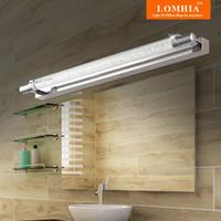 ingrosso bagno ha portato luci di vanità-Nuovo specchio da toeletta a LED per il bagno luci per il trucco in acciaio inossidabile Ac90-260v applique da parete lampade apparecchi di illuminazione moderni