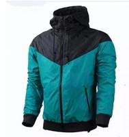 Wholesale Running Jacket Women Waterproof - Fall windrunner Men Women sportswear high quality waterproof fabric Men sports Running clothes jacket Fashion zipper hoodie coat big size