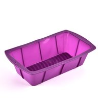 Wholesale Cake Tool Box - Purple Cake Mold Oblong Shape Silicone DIY Toast Box Multi Function Heat Resisting Kitchen Baking Tools 2 8rx C R