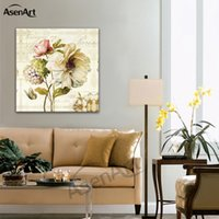 Canvas Painting Simple Flowers Art Wall Pictures Hanging Poster For Dinning Room Home Decorative