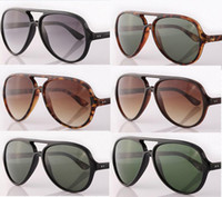 Wholesale Eye Glass Protection - New Arrival Unisex Women's CATS5O00 15 Colors Glass G15 Lens Sunglasses UV400 Protection +Box