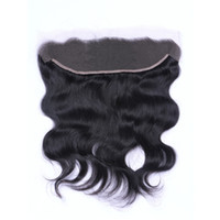 Wholesale malaysian body wave frontals - Brazilian Body Wave 13x4 Ear To Ear Pre Plucked Lace Frontals Closure With Baby Hair Remy Human Hair Free Part Top Frontals