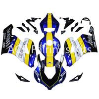 Wholesale 3 gift new For Honda CBR1000RR ABS Motorcycle Fairing Kit Bodywork Yellow Blue v36