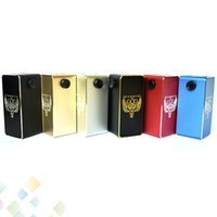 Wholesale Body Hammers - Hammer of God V2 Box Mod Square Aluminum Body fit 4 pcs 18650 Battery 510 RDA Atomizer with LED Voltage Display DHL Free