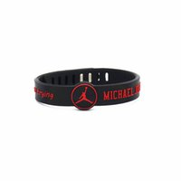 Wholesale Chain Silicone Rubber Bracelet - 2PC debossed 'i can't not accept trying' black silicone basketball bracelets Adjustable rubber wristband
