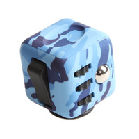 Wholesale Eva Cube - 2017 Colorful Camouflage Magic Fidget cube Stress Relief Toys the world's first American decompression anxiety Toys With Retail Box