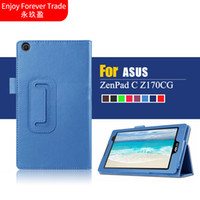 Wholesale resistance c - Wholesale- 3 in 1 Nieuwe Litchi PU Leather Case Stand Slim Cover Under the For Asus ZenPad C 7.0 Z170C Z170CG Z170MG Tablet PC