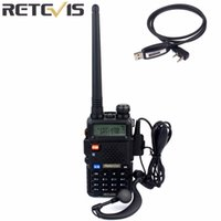 Wholesale Handy Talkie Vhf - Wholesale- Retevis RT 5R Walkie Talkie 128CH UHF+VHF HF Transceiver Portable Radio Set Handy Radio Comunicador A7105A-C9018