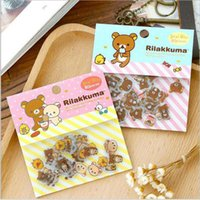 Wholesale Mini Album Wholesale - Wholesale- 80 Pcs Lot Cute Rilakkuma Mini Paper Stickerbag Diy Diary Planner Decoration Sticker Album Scrapbooking Kawaii Stationery