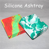 Wholesale Home Heat - 2017 Colorful Friendly Heat-resistant Silicone Ashtray Pocket Ashtrays for Cigar Ash Tray Home Novelty Crafts for Cigarettes DHL