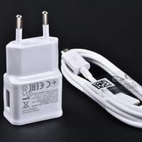 Wholesale Plug Adapter For Uk - original samsung 5v2a wall charger EU UK charge plug OEM Samsung travel fast charger adapter ETA-U90EWE Galaxy S3S4S6S7Edge NOTE345 N7100