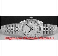 Wholesale Jubilee Wrist Watches - New arrive Luxury watches free gift box Wrist watch Mid-Size 31mm - Silver Jubilee Diamond Dial - 178274