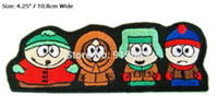 """Wholesale Funny Cartoon Movies - 4.25"""" SOUTH PARK FUNNY CARTOON Iron On Patch Badge TV Movie Characters Series Embroideried Iron On Patch Logo Badge for clothing"""