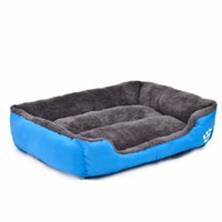 Wholesale Rectangle Candy Colored Dogs Beds Soft Warm Pet House Kennel Breathable Cool Mat Cushions For Small Dogs Cats