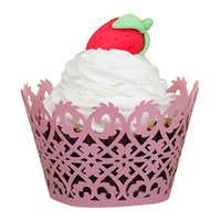 Wholesale pc New Cake Cups Halloween Christmas wedding birthday party Little Vine Lace Laser Cut Cupcake Wrapper Liner Baking Cup