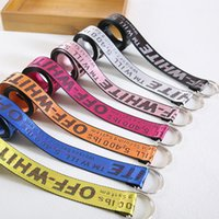Wholesale Wide Hip Belts Women - Off-white Belt Unisex Hip Hop Style Skateboard Army Military Ceinture Kanye West You Cut Me Off White Virgil Abloh Belts