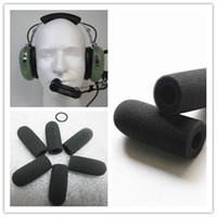 mikrofon köpükleri toptan satış-10 adet Köpük cam mikrofon ön camları kaliteli köpük kapak takım için David Clark M-7 kulaklık mikrofonlar