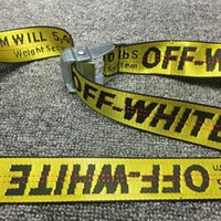 Wholesale Popular Sale Off white Nylon Belt High Quality Hip Hop Yellow And Silver Skateboard Army Military Ceinture Kanye West Off White Belts