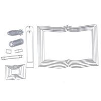 Wholesale Metal Die Cutting - 150*108mm Books Frame Customized Hot Stencil Metal Cutting Dies Cut Practice Hands-on DIY Scrapbooking Album Craft dies q171128