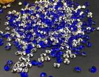 10000pcs 4mm azul acrílico de diamantes confeti boda tabla de la mesa dispersa decoración de cristal