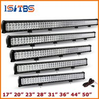 "Wholesale 28 Led Light Bar - Free ship20"" 23"" 28"" 31"" 36"" 44"" 50"" Cree Chip 3-Row LED Light Bar OffRoad Driving Work Light Combo Led Bar for Truck Car PickUp"
