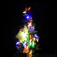 Vente en gros- 10/20 LED Battery Power Photo Peg Clip Shape Fairy String Light Hanging Picture Party Christmas Decor