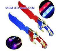 lider bıçak toptan satış-Ücretsiz EMS 50 adet 55 cm LED Müzikal Flaş Glow Kılıç Bıçak Kostüm Giydirme Sahne LED Işık Flaş Yerçekimi Çocuklar Oyuncak Noel Hediyesi