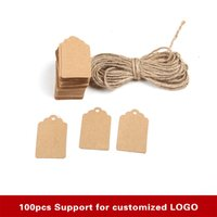 Vente en gros- 100PCS / LOT 3 * 5CM ZAKKA Vintage DIY Papier Kraft Qualité Solid Tag Gift Elevators Mini Bookmark Message Card Book Mark