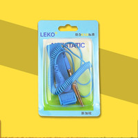 sangles anti-statique achat en gros de-Anti Statique PVC Dragonne Proof Réglable Lavable Bracelet Personnalisable Corde Filaire Bound Usine Directe Paquet Unique 1 6cx J1
