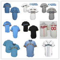 Wholesale Custom Blank Jerseys - Free Shipping cheap 2017 New Men's Custom blank Milwaukee Brewers Baseball Cooperstown Collection jersey stitched size S-6XL