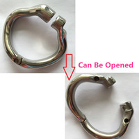 Wholesale Newest Chastity Devices - 2017 Newest Chastity Cock Cage New Arrival Open Mouth Snap Ring Stainless Steel Chastity Device Cock Snap Ring for Male