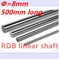 Wholesale 8mm linear shaft - Wholesale- OD 8mm x 500mm Cylinder Liner Rail Linear Shaft Optical Axis chrome For 3D Printer Accessory 8mm linear shaft 500mm