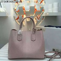 Wholesale Nude Crochet - Women fashion leather totes genuine cow leather crocodile grain women casual open handbags 6 colors to choose 36cm wide factory price