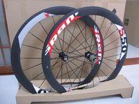 Wholesale Carbon Bike Wheel Sram Hub - EMS shipping SRAM S50 50mm rim tubular clincher Full Carbon 700C road bike wheels + spokes+ hubs