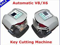 Wholesale Jeep X6 - New Arrival! V8 X6 Key Cutting Machine X6 Machine V8 Auto Key Programmer Fast key machine Free Ship