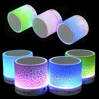 mobile phone mini usb NZ - MOQ;20PCS Portable Mini Flashing LED Bluetooth Speakers A9 Wireless Small Music Audio TF USB FM Stereo Sound Speaker For Mobile Phone Player