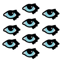 Wholesale Eye Jeans - 10PCS Small Eyes Embroidery Patches for Clothing Bags Iron on Transfer Applique Patch for Garment Jeans DIY Sew on Embroidery Badge