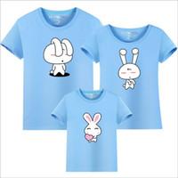 Wholesale Couple Outfit Clothing - fashion T-shirt free shipping Parent-child photography clothing summer Family Matching Outfits Couple clothing cotton T-shirt wholesale R-02