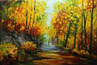 Wholesale oil landscapes painting knives online - Framed Hot Sell Pure Hand Painted Thick Oil Color Palette Knife Landscape Oil painting Modern Living Room Home Decor on Canvas DH011
