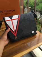 Wholesale Male Shoulder Cross Body Bag - Palace Bags triangle graffiti black and white covered woman male student postman messenger shoulder bag