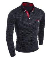Wholesale New Beautiful Shirts - Wholesale- 2017New Spring Fashion New Long Sleeve Shirts Men,Beautiful Small Dot,Outerwear Casual Shirts Men