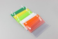 Wholesale 100 POP Clear PVC Price Tag Label Display Holder Hanging buckle on Mesh Rack Basket Shelf label holder strip