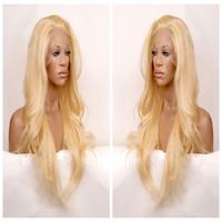 siyahlar için ısıya dayanıklı peruk toptan satış-Uzun dalgalı saç dantel ön peruk sentetik siyah saç ücretsiz bölüm isıya dayanıklı siyah / sarışın / kahverengi üç tarak askıları